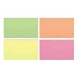 Vokas su užtrauktuku FIZZY NEON A4, 4 skirtingos neoninės spalvos su baltu užtrauktuku