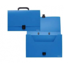 Rankinė dokumentams CLASSIC plastikinė, matmenys 372x255mm,su segtuku ir vienu skyriumi, mėlynos spalvos