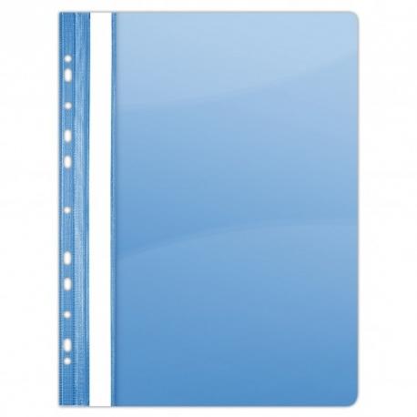 Plastikinis segtuvėlis skaidriu viršeliu, A4+,su perforacija, mėlynos sp.