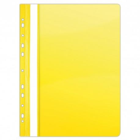 Plastikinis segtuvėlis skaidriu viršeliu, A4+, su perforacija, geltonos sp.