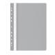 Plastikinis segtuvėlis skaidriu viršeliu, A4+, su perforacija, pilkos sp.