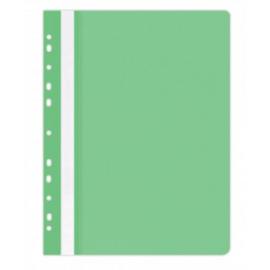 Plastikinis segtuvėlis skaidriu viršeliu, A4+, su perforacija, žalios sp.