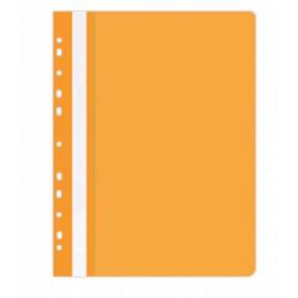 Plastikinis segtuvėlis skaidriu viršeliu, A4+, su perforacija, oranžinės sp.