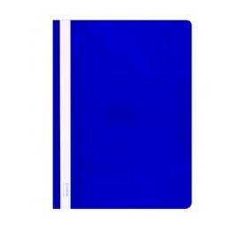 Plastikinis segtuvėlis skaidriu viršeliu A4+, mėlynos sp.