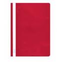 Plastikinis segtuvėlis skaidriu viršeliu A4+, raudonos sp.