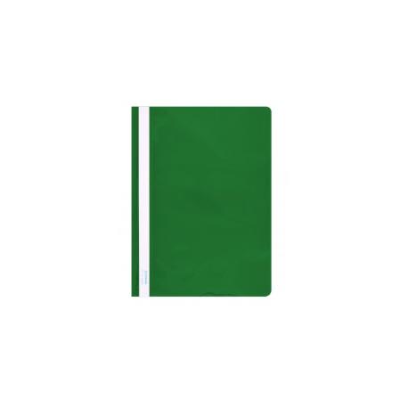 Plastikinis segtuvėlis skaidriu viršeliu A4+, žalios sp.