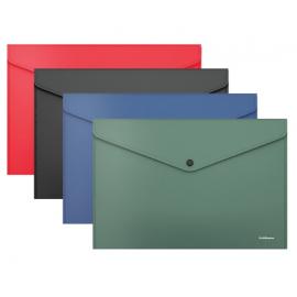 Plastikinis vokas su spaustuku FIZZY CLASSIC, A4, 4 spalvos, ErichKrause