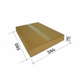 Kartoninė dėžutė siuntiniams, dydis S, 580x380x75mm, ruda