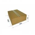 Kartoninė dėžutė siuntiniams, dydis M, 580x380x170mm, ruda