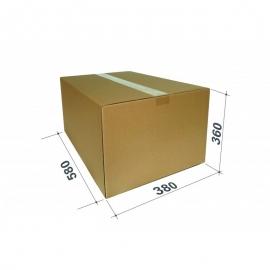 Kartoninė dėžutė siuntiniams, dydis L, 580x380x360mm, ruda