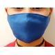 Apsauginė vaikiška veido kaukė, 2-jų sluoksnių, XS dydis, medžiaginė, mėlynos sp.