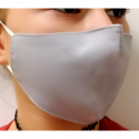 Apsauginė vaikiška veido kaukė, 2-jų sluoksnių, XS dydis, medžiaginė, pilkos sp.