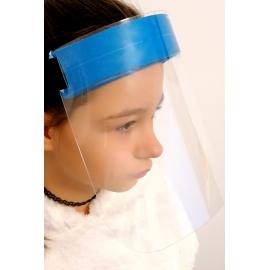 Vaikiškas apsauginis veido skydelis, 500 mikronų plastikas, su gumele ir paminkštinimu
