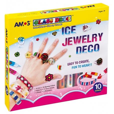Vitražinių dažų rinkinys ICE JEWELERY, Amos