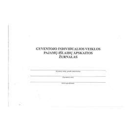 Gyventojų individualios veiklos pajamų ir išlaidų apskaitos žurnalas, A4, 24 lapai