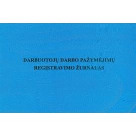 Darbuotojų darbo pažymėjimų registravimo žurnalas A5, horizontalus, 24 lapai