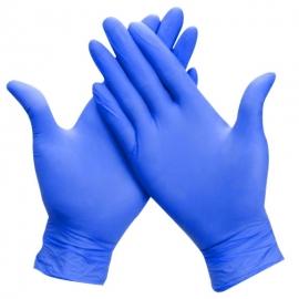 Vienkartinės nitrilinės pirštinės ABENA ULTRA SENSITIVE, M dydis, mėlynos sp., be pudros, 100 vnt.