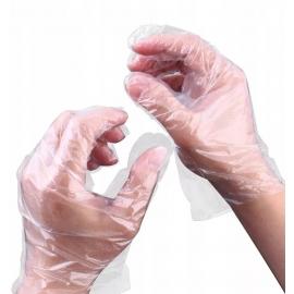 Vienkartinės polietileninės (HDPE) pirštinės PLAST, skaidrios, L dydis, 100 vnt.