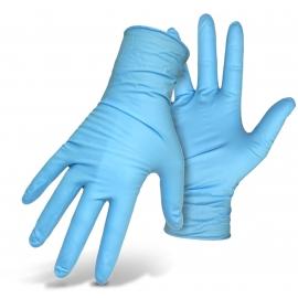 Vienkartinės nitrilinės pirštinės HYGONORM SAFE FIT, M dydis, mėlynos sp., be pudros, 100 vnt.