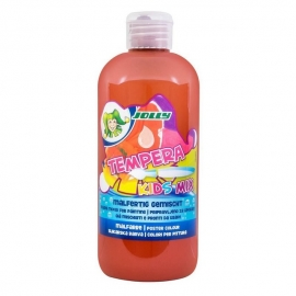 Tempera KIDS MIX Jolly, 500 ml, rudos spalvos