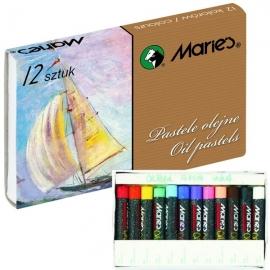 Aliejinės kreidelės, Maries, 12 spalvų