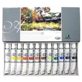 Akrilinių dažų rinkinys, Maries, 12 spalvų