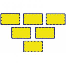 Lipnios etiketės akcijoms, 52x30mm, mėlynos/geltonos sp.