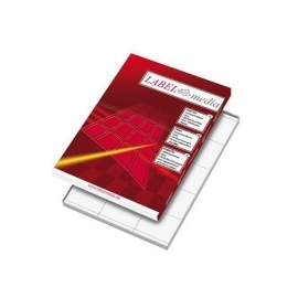 Lipnios etiketės LABEL MEDIA, A4, 2 (210x148.5mm) lipdukai lape