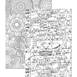 Sąsiuvinis MANDALAS, A4, langeliais, 48 lapai, 70gsm