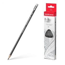 Pieštukas MEGAPOLIS, kietumas HB, su trintuku