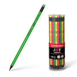 Grafitinis pieštukas JOY, ErichKrause, HB, su trintuku