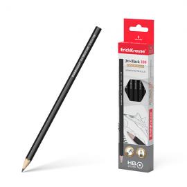 Grafitinis pieštukas JET BLACK 100, ErichKrause, HB, be trintuko