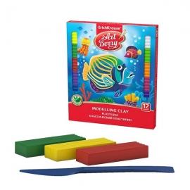 Plastilinas 10 spalvų x 18 g + plastikinis peiliukas, Art Berry