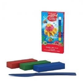 Plastilinas 6 spalvų x 18 g. + plastikinis peiliukas, Art Berry