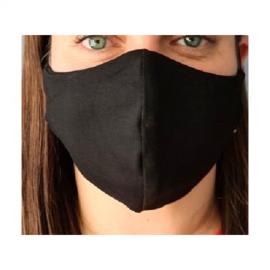 Apsauginė veido kaukė, L dydis, medžiaginė, juodos spalvos