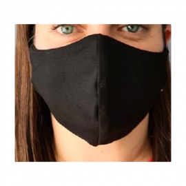 Apsauginė veido kaukė, M dydis, medžiaginė, juodos spalvos