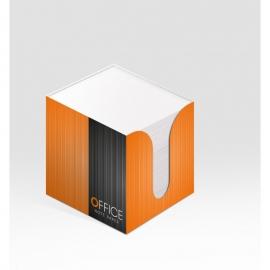 Lapeliai užrašams 8,5x8,5x8,5 kartoninėje dėžutėje balti