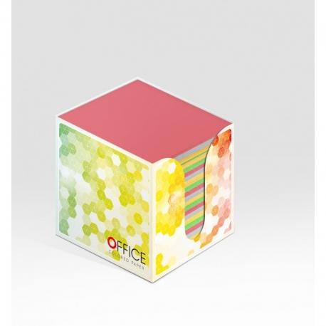Lapeliai užrašams 8,5x8,5x8,5 kartoninėje dėžutėje spalvoti