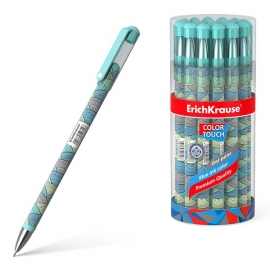 Gelinis rašiklis EMERALD WAVE, ErichKrause, storis 0.38mm, mėlynos sp.