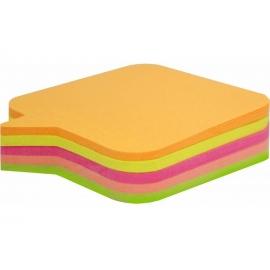 Lipnūs lapeliai-indeksai 4x15x50mm, neoninių spalvų, EAGLE