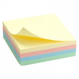 Lipnūs lapeliai 75x75mm, pastelinių spalvų kubai, 300 l.