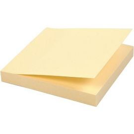 Lipnūs lapeliai užrašams 654, Eagle, 75x75mm, geltonos sp.