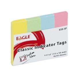 Popieriniai žymekliai-indeksai 659-5P, Eagle, 4 pastelinės sp.