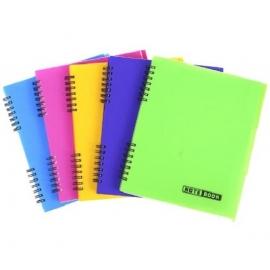 Bloknotas NOTEBOOK, EconoMix, B5, 120 lapų, langeliais, 60gsm, plastikinis viršelis, su spirale šone