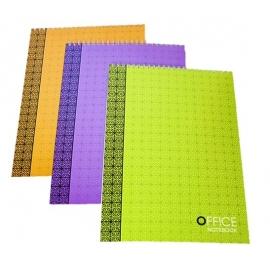 Bloknotas OFFICE, A4, 48 lapai, langeliais, 70gsm, su spirale viršuje