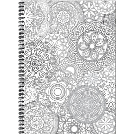 Bloknotas MANDALAS, A4, langeliais, 70 lapų, 70gsm, su spirale šone
