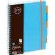 Bloknotas NOTOBOOK, Grand, A4, 100 lapų, langeliais, 80gsm, plastikinis viršelis, su spirale