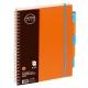 Bloknotas NOTOBOOK, Grand, A4, 100 lapų, langeliais, 80gsm, plastikinis viršelis, su spirale šone