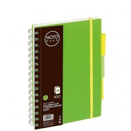 Bloknotas NOTOBOOK, Grand, A5, 100 lapų, langeliais, 80gsm, plastikinis viršelis, su spirale šone
