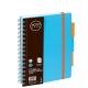 Bloknotas NOTOBOOK, Grand, A5, 100 lapų, linija, 80gsm, plastikinis viršelis, su spirale šone
